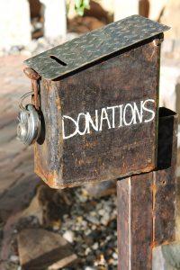 a donation box